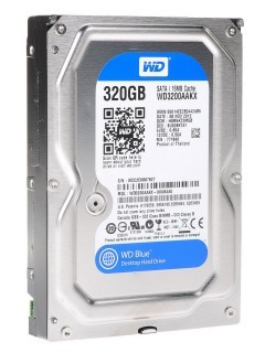 Жесткий диск SATA-3 320Gb Western Digital Caviar Blue 7200rpm [WD3200AAKX] Cache 16MB