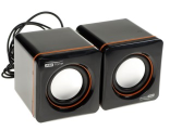 Колонки 2.0 AirTone ADL-007 [2х2.5Вт, пластик, 3,5mm+USB]